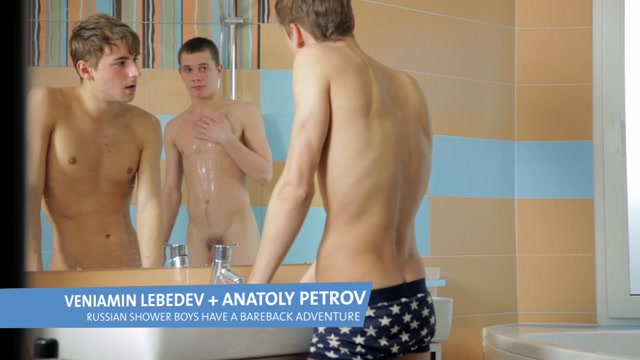 Russian shower boys have a great wet time - Spritzz Huge tits milf spread eagle