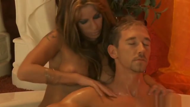 Sensual Massage For His Tired Cock Domina toys with Perfect Slave Girl