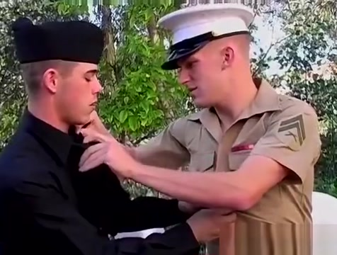 Army blond Josh Williams strokes and swallows jock cock Afganistan girls pussy photo