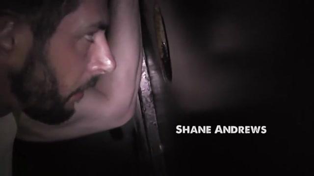 Shane Andrews gloryhole slut swallows every load gay porn clint fox