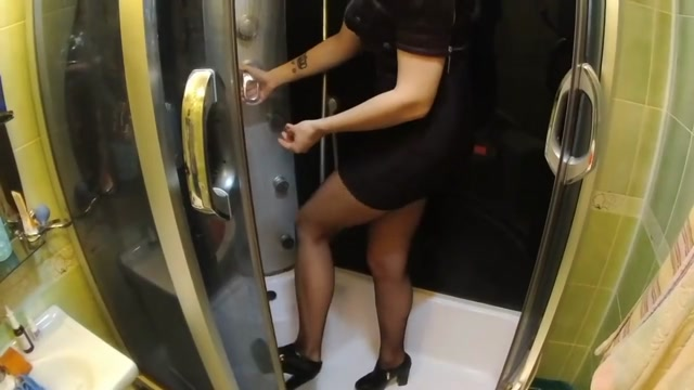 hair wash in sexy dress