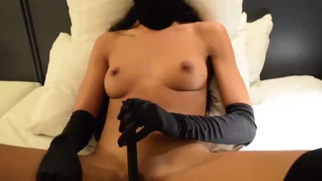 Masturbation with client fucking me with dildo Tied up sharing double dildo