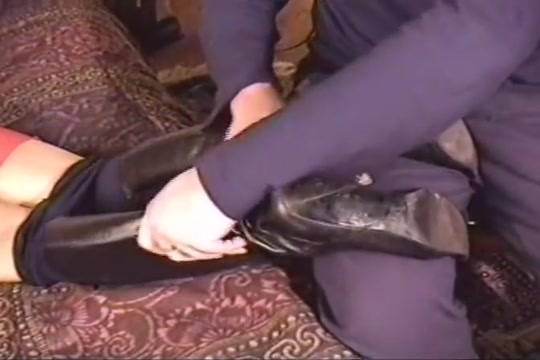 Removing High Heel Boots To Sniff Smelly Mature Feet