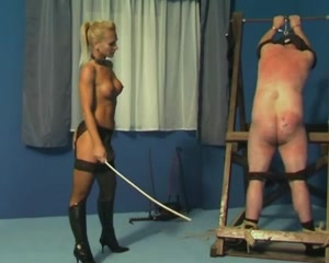 Caning and whipping by mistress Gitta Your dick my dick