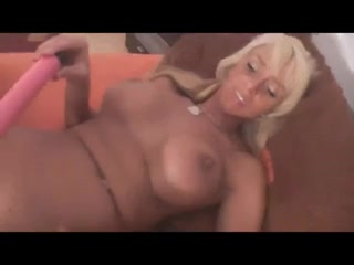 My hot busty blonde plays with her pink dildo Hot boobs oics