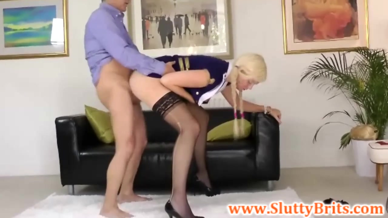 Juvenile brit playgirl pussydrilled by old fellow