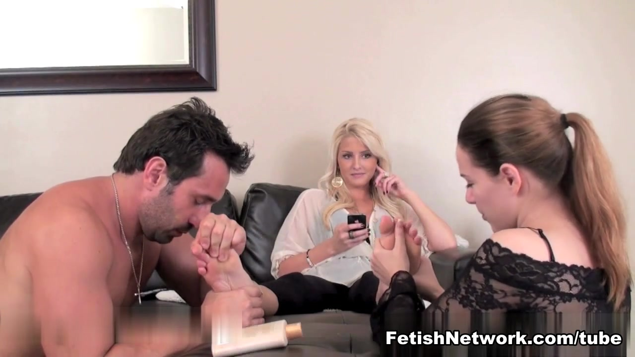Dirty femdom mistress has new slaves