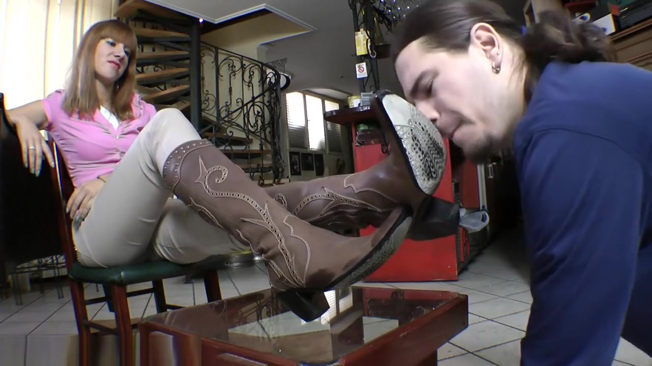 Boot worship first time watching wife have sex