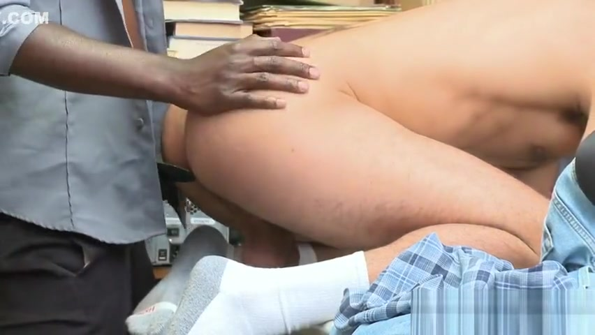 Latino shoplifter barefucked by black Guard Doctor cums on patients ass from behind