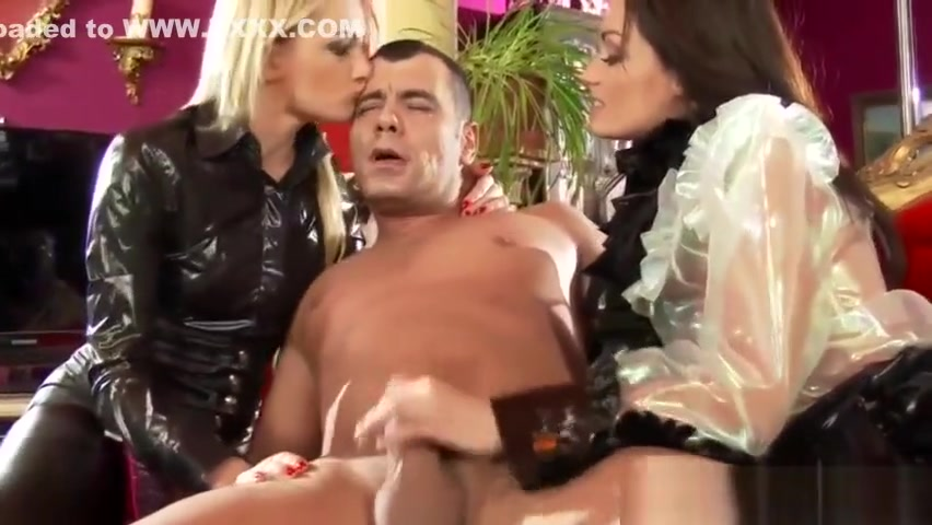 Latex blonde and brunette stroke cock pe girls naked big boobs