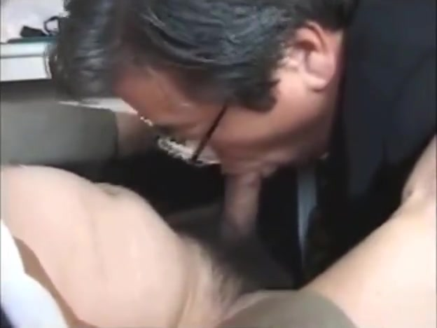 Japanese old man Short skirt stockings high heels homemade fuck