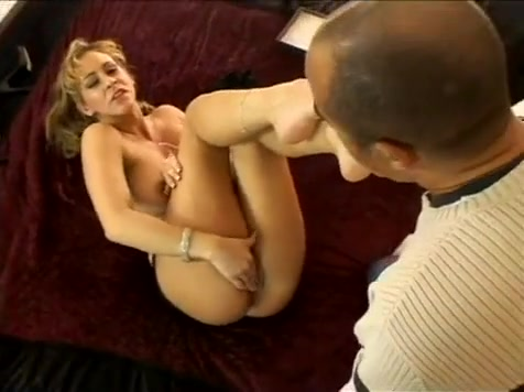 Cute Blonde Girl With Perfect Feet Gives A Footjob