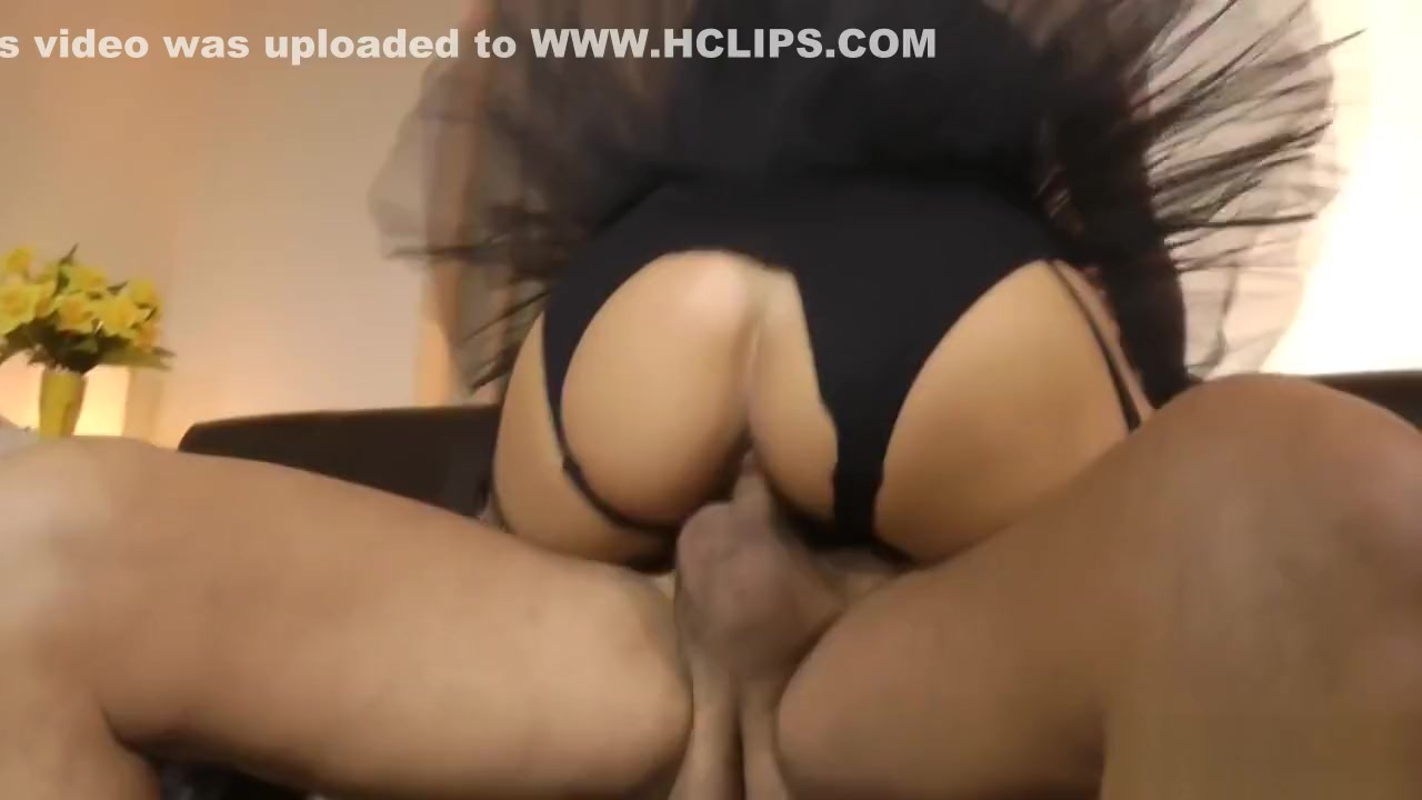 Slutty ballerina riding dick reversecowgirl