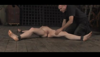Skinny brunette tortured and toyed well