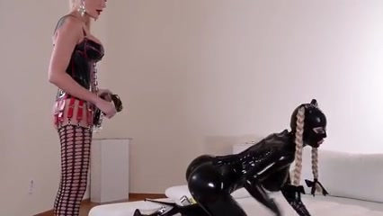 Latex Slave Real lesbian dildo videos