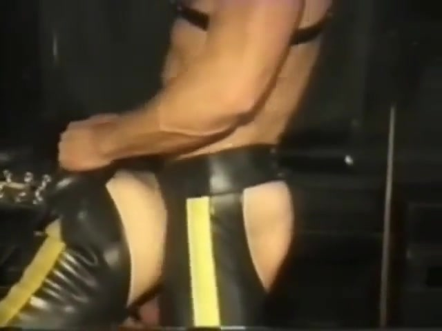 Leather Party Gay skinny dipping