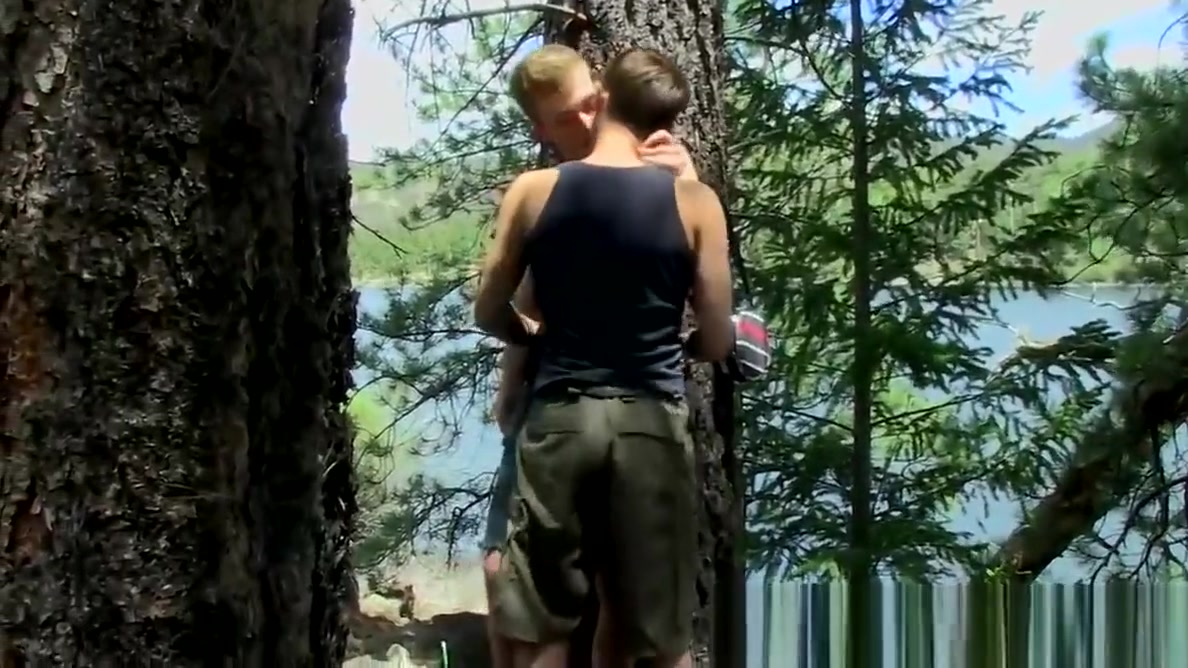 Juicy twink enjoys raw sex session and cum on ass in nature Kiara naked