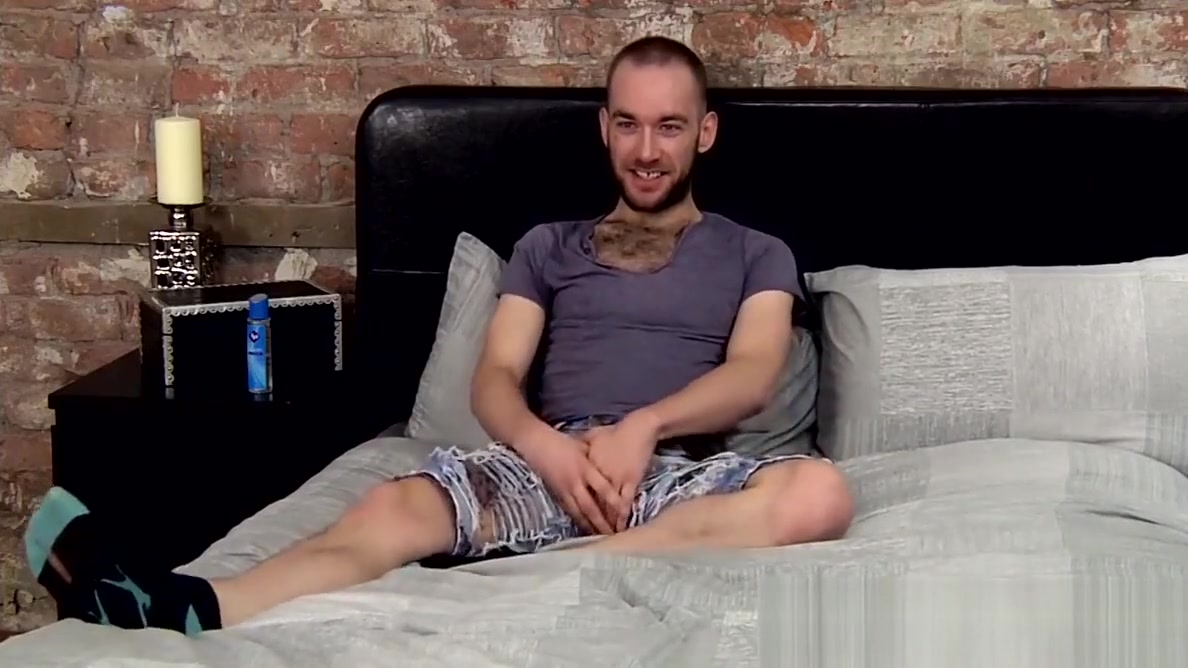 Haired bum Lincoln Gates loves to wank off after an interview Big ass whore blowjob cock and facial