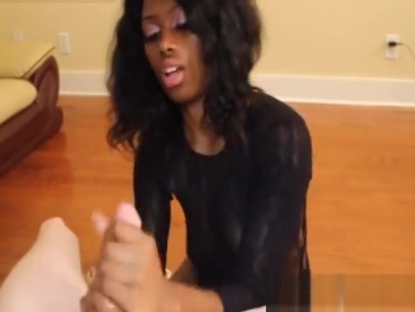 Young ebony jerking bigcock on her knees Tattooed stepteen munches