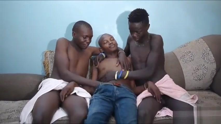 Black African Twinks Barebacking 3-way anime hentai video com