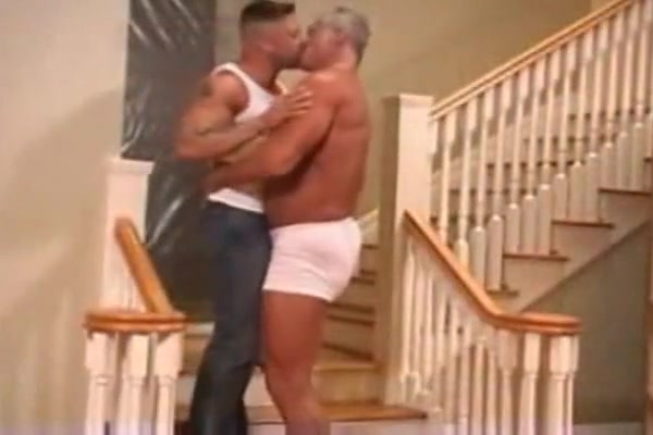 Gay muscle daddy fucks his ass Adult card erotic sexy