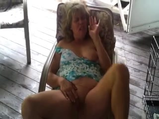 Lascivious aged masturbates at home