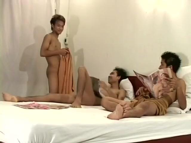 Three asian guys masturbating together (Kamol-Santipong-Gong) Asian porn girl on girl