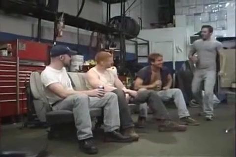 Super orgia de mecanicos en el garage Awesome blonde hoe gets aroused for some