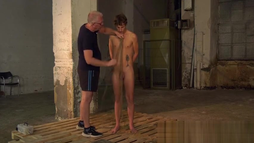 Bound twink slave endures cock torture from older master Beautiful girl ass pic