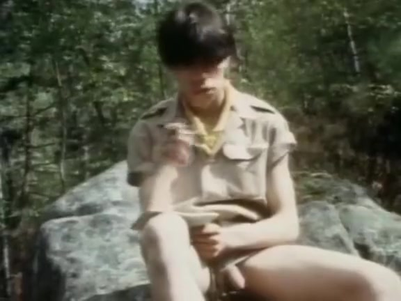 Fucking on a scouts trip Men burning nude women's boobs