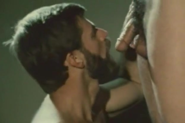 Bearded bottom in retro gay video Deep spot