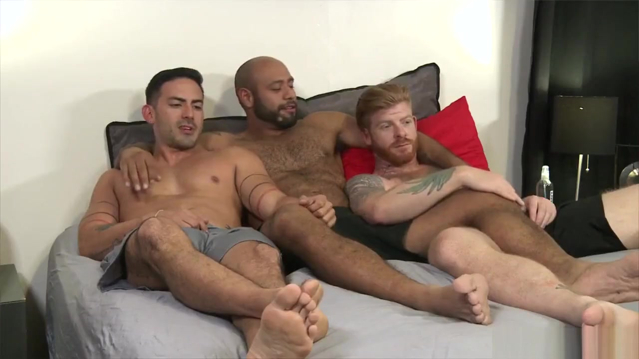 Cesar Rossi, Bennett Anthony & Leo Forte nude interracial beaches with sex