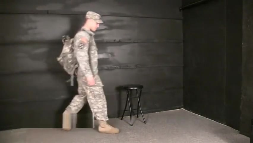 HUSG Brad 1 l marine stand at attention with only socks and shorts on Ultimate Compilation Part One