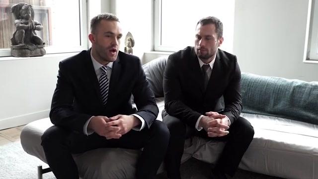 Suit & tie Backroom Facials Bang Bros