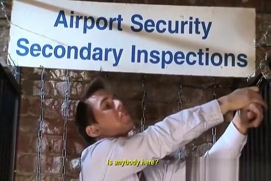 rough Airport Security Ballslaps fucking blow up dolls