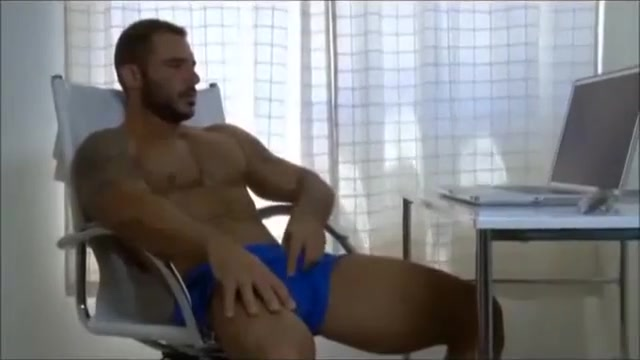 blue sofa hunks Big natural boobs hands tied