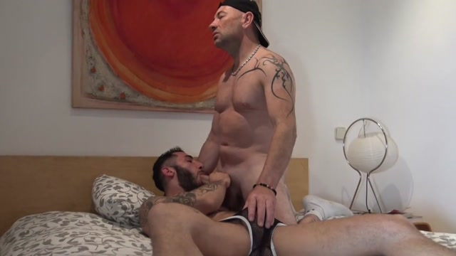 straight boy fuck a gay and a shemale brunette takes it all