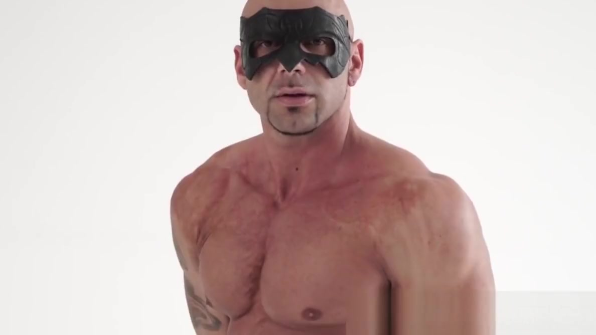 Bald hunk shows his hard muscles before jerking off solo having sex after a sex change porn