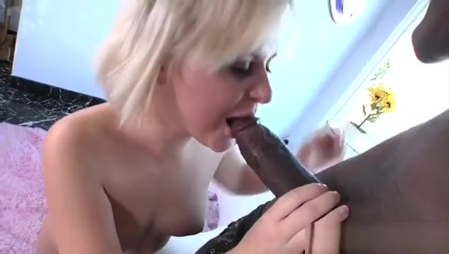 Two Sexy Girls Play With One Big Black Cock