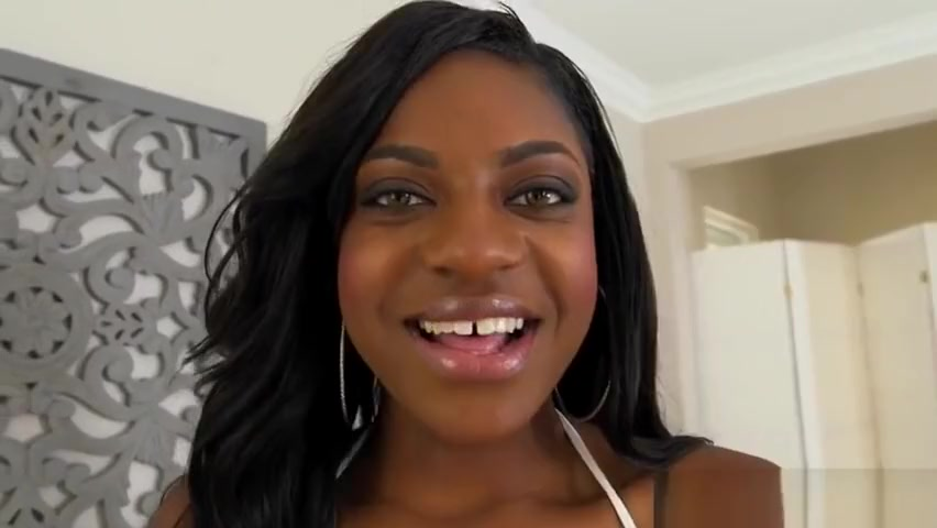gorgeous ebony babe alexis rides cock light skin black bitch fucked then facial 2