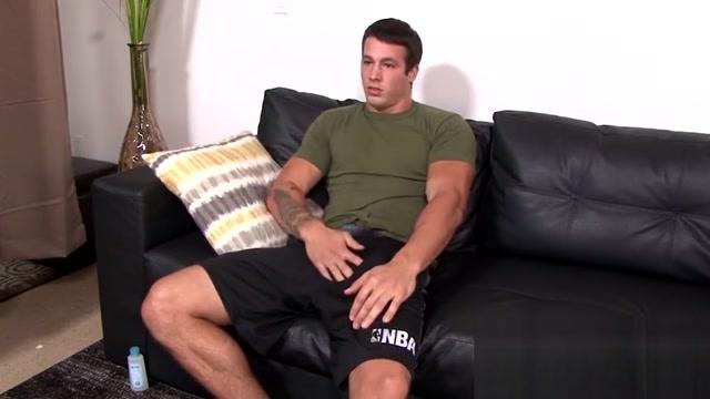 Muscular hunk Ty ll jacks off his beefy stick solo macho fucker gay porn