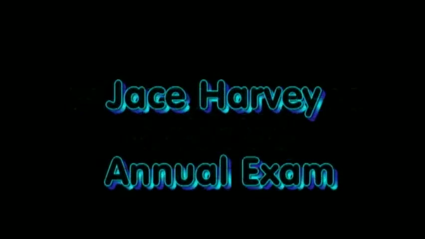 Jace Harvey Annual Exam Handjob with long black leather gloves