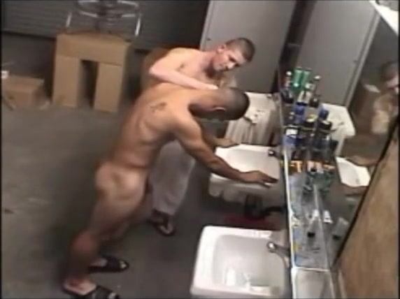 Haircut for a naked soldier - spycam Fetish strapon