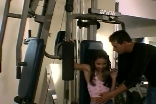 Gorgeous Brunette Gets Fucked In The Workout Room