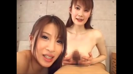 2 Japanese Girls suck you off - POV (censored)