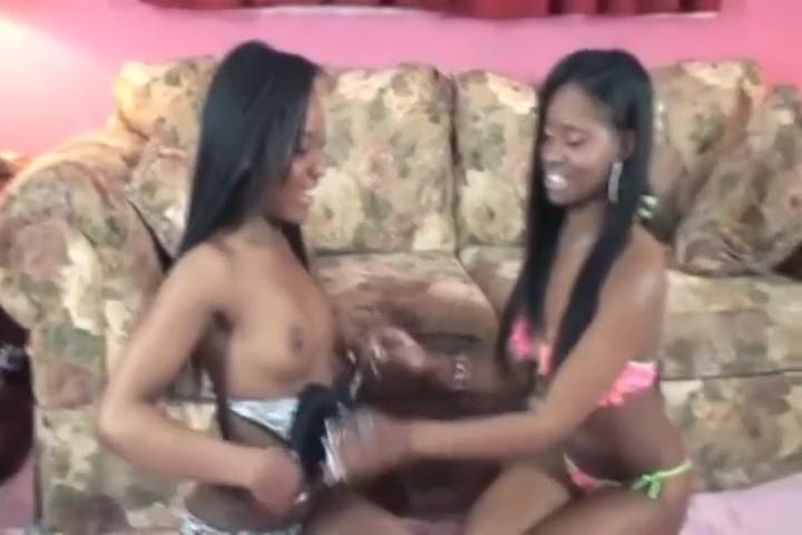 two hot ebony lesbians each pussy Sleeping pussy fingered night