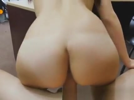 Gorgeous Brunette Alexis Deen Drilled On Desk In Pawn Shop