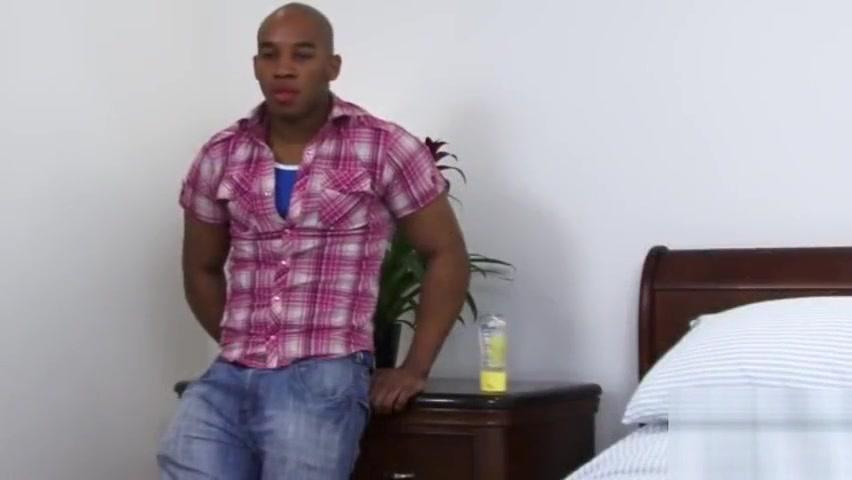 Hot muscle black guy with big cock solo! straight guys first gay time stories
