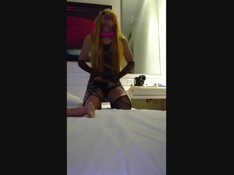 Ugly Satanic Sissy Poppers Slut Toys Herself After Too-Short Sex