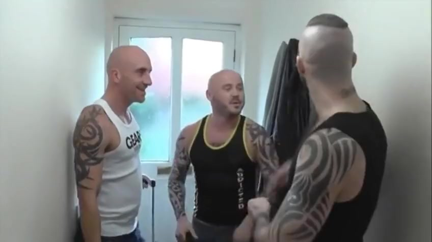 Chav Skinhead double-dicked in hot threesome Free vivid video images